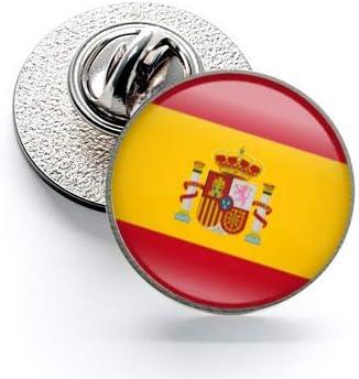 Pack 5 Pins de Solapa Spain Flag Ribbon - Lazo Bandera España 17mm: Amazon.es: Hogar