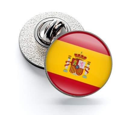 Gemelolandia Bandera de España Pin de Solapa Pin de Traje con la Bandera de España   Pines Originales y Baratos Para Regalar   Para las Camisas, la Ropa o para tu Mochila   Detalles Divertidos