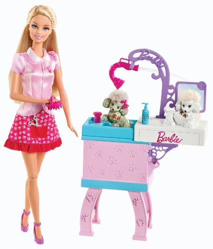 BARBIE I CAN BE PET GROOMER PLAYSET