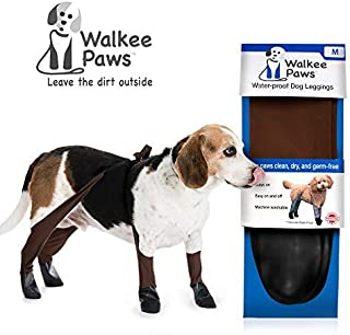 Walkee Paws Waterproof Dog Leggings - Keep Your Dog's Feet Clean and Dry Without The Hassle of Boots - Cocoa Color