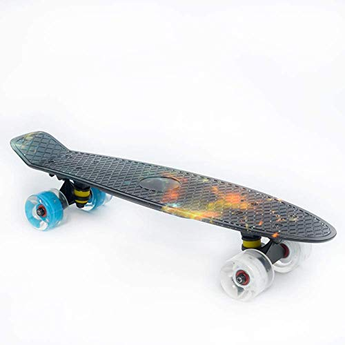 nordmiex Complete 22inches Cruiser Skateboards for Beginners,Black Sky