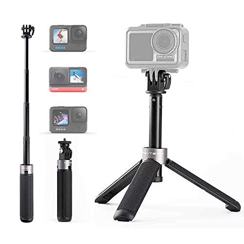 PGYTECH Mini Stativ Action Kamera Stativ mit Verlängerungsstange für Gopro Hero 10/9/8/7, DJI OSMO Action/Tasche, XiaoYi, Insta360, Feiyu Tasche 162 x 29 x 29 mm