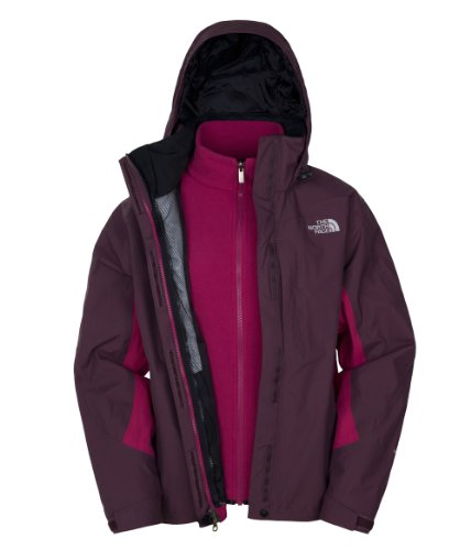 The North Face Veste Fonctionnelle Triclimate modèle Evolution XL - Bordeaux Red