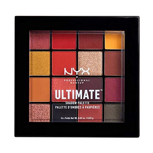 NYX Professional Makeup Ultimate Shadow Palette, Lidschattenpalette, 16 Farbtöne, Schimmernd und...