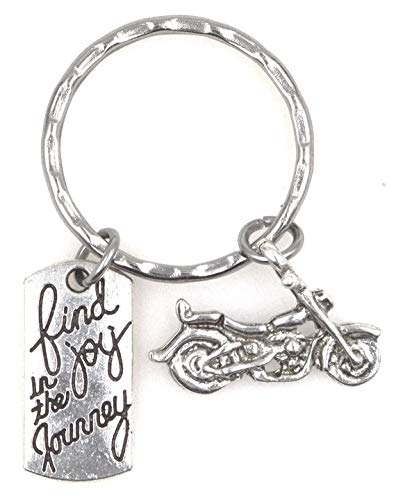 Find Joy in The Journey Motorcycle Keychain 110R