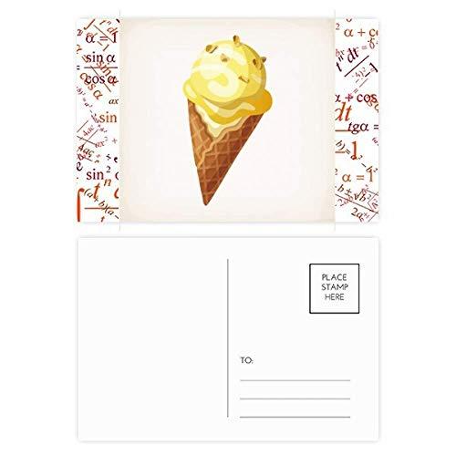 DIYthinker geel pindakaas zoete ijs patroon formule ansichtkaart set dank kaart mailing kant 20 stks 5.7 inch x 3.8 inch Multi kleuren