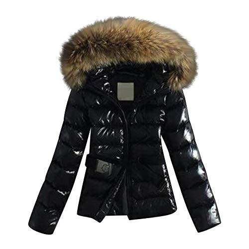 AILIEE Chaqueta de algodón acolchada para mujer con plumón y plumón para invierno