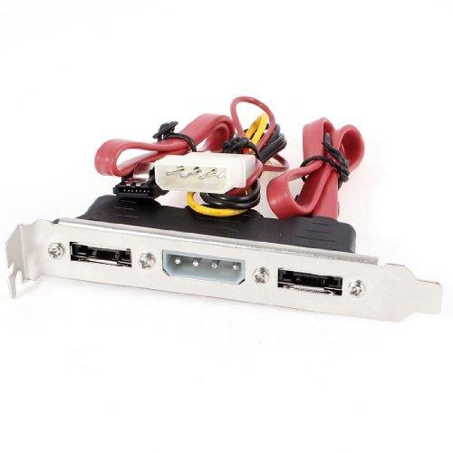 30cm Dual SATA Naar eSATA + 4pines IDE vermogen port Bracket Cord...