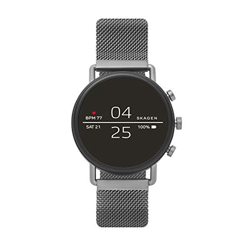 Skagen Falster 2 Smartwatch - Gray Magnetic Steel-Mesh - Powered with Wear OS by Google?