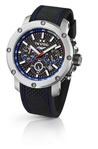 TW Steel-Orologio da uomo al quarzo con Display con cronografo e cinturino...