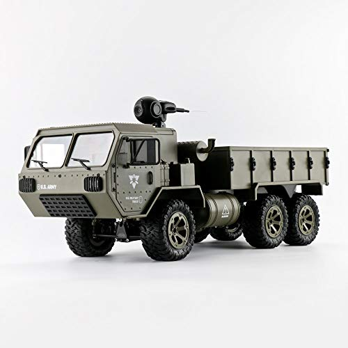 Amyove Modell Spielzeug Fayee FY004A 1/16 2,4G 6WD Rc Auto Proportionalsteuerung US Army Military Truck RTR Modell Spielzeug Mit Kamera + 3 Batterien 1:16