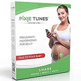 Pixie Tunes Sistema de bocinas Baby Bump para reproducir sonido, música y hablar con su bebé en el útero desde cualquier teléfono móvil, tableta y dispositivo de audio portátil. Verde