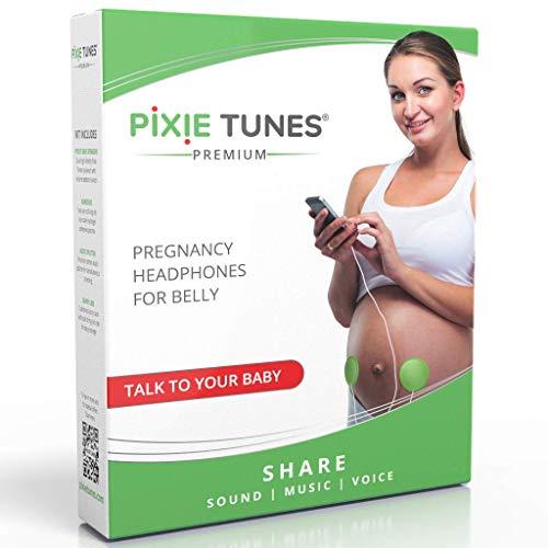 Pixie Tunes Sistema di altoparlanti Baby Bump per riprodurre suoni, musica e parlare con il tuo bambino nel grembo materno da qualsiasi telefono cellulare, tablet e dispositivo audio portatile. verde