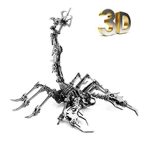 XINXIN 3D Metal Puzzle Scorpion King, 3D Puzzle Modellbausatz Metall Geschenk FüR Kinder Jugendliche Und Erwachsene, DIY Kreative Spielzeug
