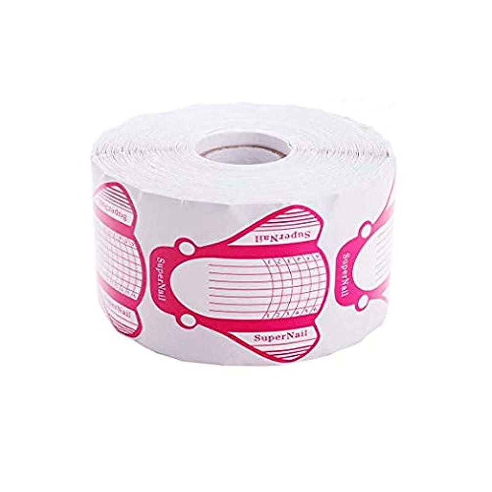 チチカカ湖モディッシュエジプト人Makartt ネイルフォーム ネイル アート 長さだし用ネイルフォーム プロ用 3色 500枚入り (ピンク)