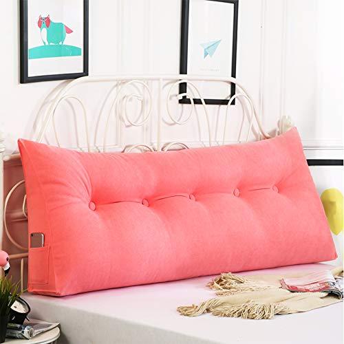 Coococ Dreieckiges Kissen Kopfteilkissen Weich Lesekissen Gepolstert Liege Sofa Bett Lumbar Pad Dreieckiges Ruhekissen,Rückenlehne Keil Kissen-Rosa 80x50x20cm