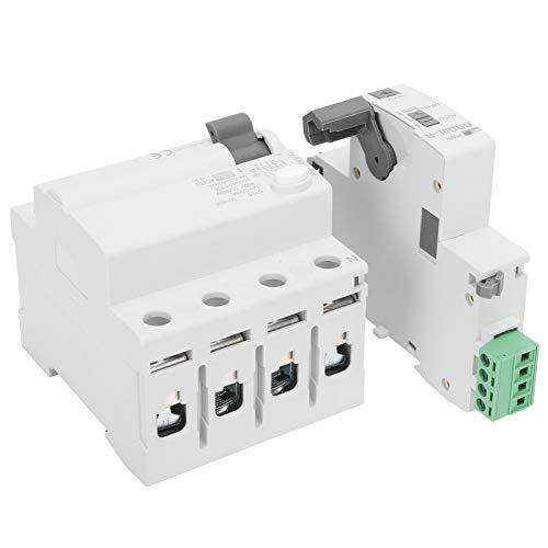 Protector de Voltaje 4P Dispositivo de Protección Contra Sobretensiones 400 V Reenganche Incorporado 3 Veces, Modo de Control Reenganche Automático + Alarma de Salida(40A)