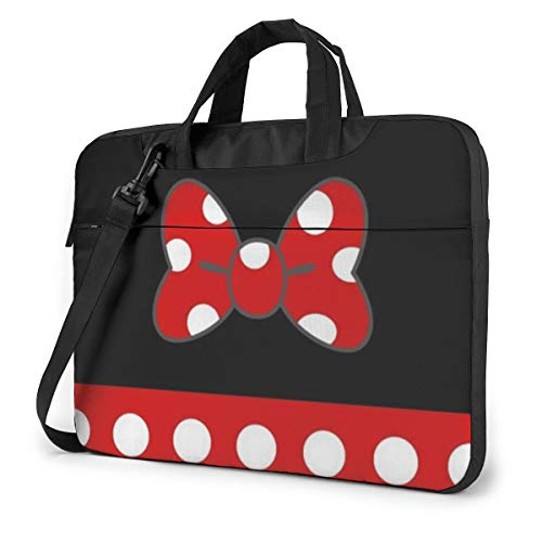 Minnie Mouse Laptop Bag Business Briefcase for Men Women, Shoulder Messenger Laptop Sleeve Case Carrying Bag- 15.6 Inch