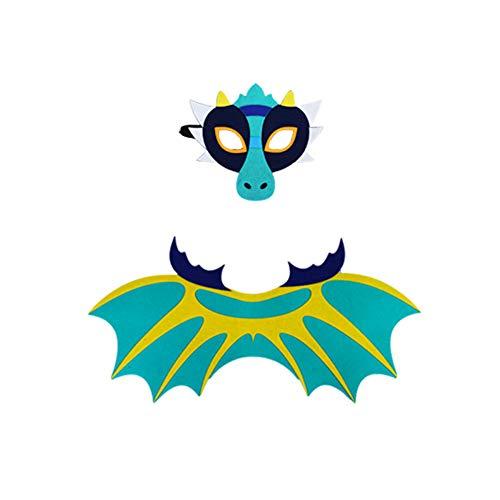 LOLANTA Ali di Dinosauro per Bambini e Feltro Maschera-Costume per Ragazze-Drago Vestire i Regali di Favore di Partito