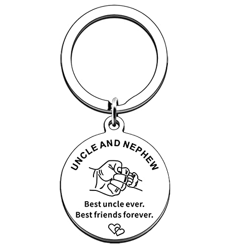 AMZQ Uncle Gifts from Nephew Uncle Keyring Keychain Key Tags Jewelry for...