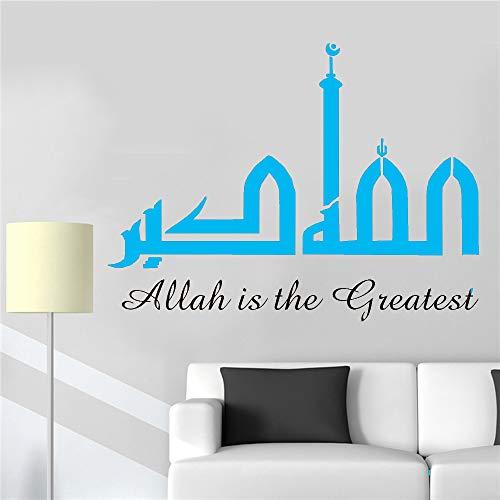 Vinilo Tatuajes de pared Sala de estar Arte Etiqueta de la pared Dormitorio Islam Decoración del hogar Extraíble color-2 42x56cm