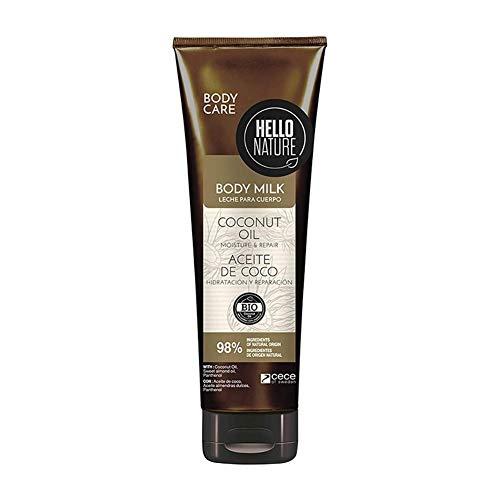 Hello Nature Bálsamo De Aceite De Coco Coconut Oil Body Balm Hidrata y humecta la piel en profundidad 250 ml