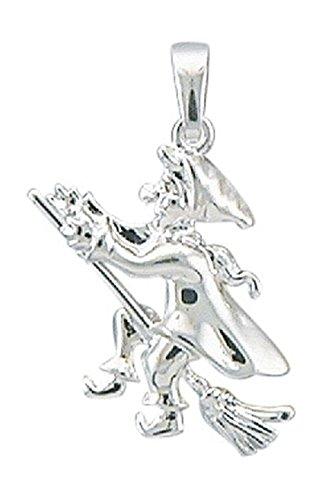 Hexe Anhänger, Kettenanhänger aus 925 Sterling Silber
