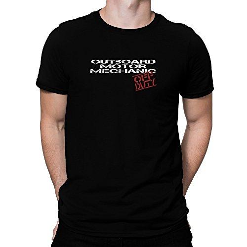 Teeburon Outboard Motor Mechanic Off Duty Camiseta