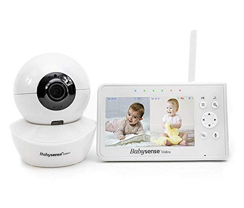 Great Features Of Baby Monitor, Babysense 4.3 Split Screen, Video Baby Monitor with Two Cameras and...