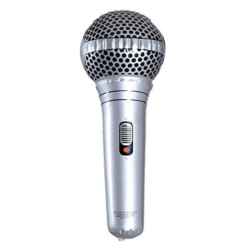 Amakando Micrófono hinchable de goma PVC para karaoke, decoración para fiestas