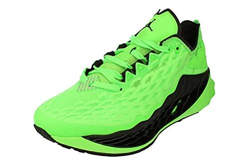 Nike Air Jordan Zoom Trunner Utlimate Uomini Pallacanestro Formatori Cj1495 Scarpe Da Ginnastica Scarpe, verde (Verde rabbia/Nero-vivido Viola-volt), 44 EU