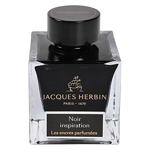 Jacques Herbin 14709JT - Botella de tinta perfumada (50 ml), color negro Inspiration
