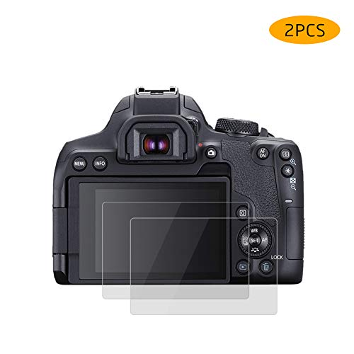 Glass Screen Protector for Canon EOS Rebel T8i /EOS 850D / EOS Kiss X10i, Rieibi 2 Packs Tempered Glass LCD Protection Film Cover Anti-Scratch Waterproof Clear Touch 9H Tempered Glass Screen Protector -  GHM-CANON-850D-AY