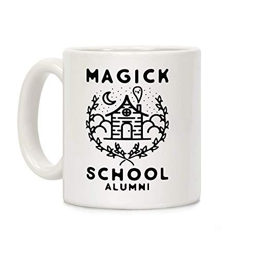 Taza De Café,Alumnos De La Escuela De Magia Blanco 11 Onzas Tazas De Cerámica Novedad Taza De Té Gracioso Taza Desayuno Para Regalos,Día De La Madre,Navidad