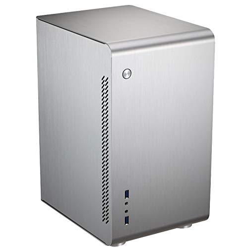 Jonsbo U3 Midi-Tower - Computergehäuse, PC Hülle, Pc Gehäuse für Wasserkühlung, Dezentes Design Computer Gehäuse, Silber
