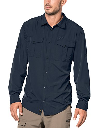 Jack Wolfskin Atacama Roll-Up Shirt Hommes, Night Blue, M