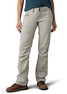 prAna - Women's Halle Roll-Up, Water-Repellent Stretch Pants for Hiking and Everyday Wear, Regular Inseam, Ashy, 4