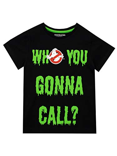* Bestseller * Boys Who You Gonna Call Ghostbusters Slime T-shirt, Ages 5 to 12 Years