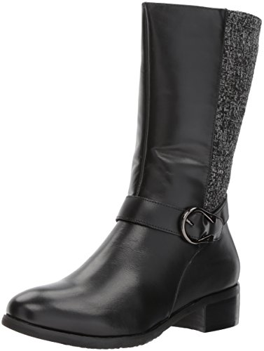 Propet Women's Tessa Riding Boot, Black, 6 M US