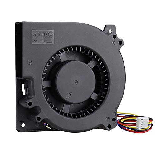 GDSTIME 120mm PWM 4 Pin 12V Dual Ball Bearing DC Brushless Blower Cooling Fan (4.72x4.72x1.26 inch), for Car Seat Amplifier Inflatables Inverter Ventilation