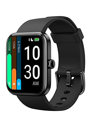 YAMAY Smartwatch für Damen Herren,1.69 Zoll HD Farbdisplay Fitnessuhr,Sportuhr mit Alexa Integriert,14 Trainingsmodi Fitness Tracker,Pulsoximeter,Pulsuhr,Schrittzähler UhrPersonalisiert Zifferblättern