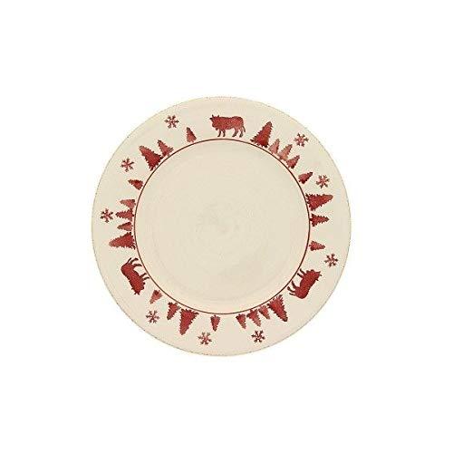 TABLE&COOK Assiette plate 'vache rouge' (lot de 6) - F360800328D0164