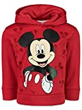 Disney Mickey Mouse Toddler Boys Fleece Pullover Hoodie 4T Red