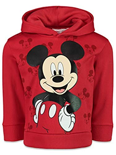 Disney Mickey Mouse Little Boys Fleece Pullover Hoodie 7 Red