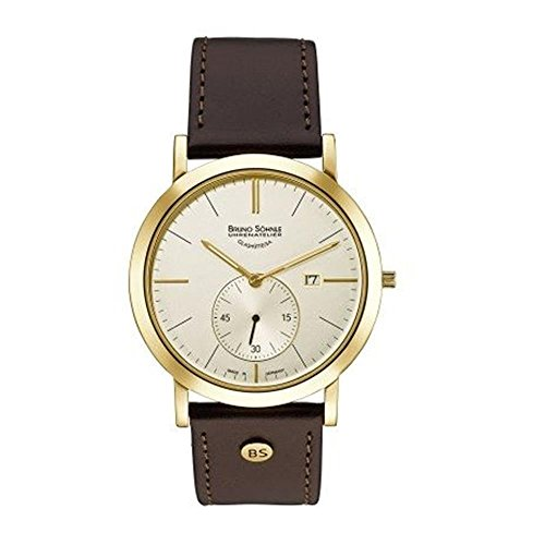 Bruno Söhnle Herren Analog Quarz Uhr mit Leder Armband 17-33086-245