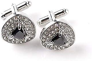 SOLDOUT™ Men's Shirt Cufflinks Classic Glittering Stones Cuff Links Party Wedding Casual Shirt Cuff Buttons Luxury Jewelry