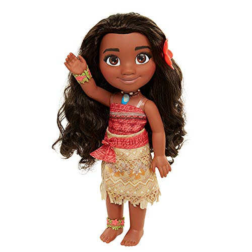 Disney Go on an Adventure with 14 inch Moana Doll Complete with Bracelet and Anklet and 3.5 inch pet Pua