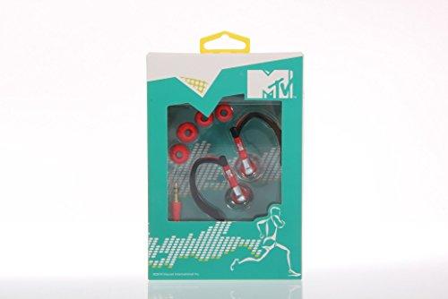MTV 1777 Sport Kopfhörer schwarz/rot - Earphones - verstellbare Ohrbügel - bequemes Tragegefühl - 10mm Stecker - 32 Ohm - max. Input Power 5mW - 20-20.000 Hz