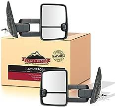 Trail Ridge Tow Mirror Upgrade Power Folding Turn Memory Chrome Pair Set for 2008-2011 Toyota Sequoia / 2007-2017 Toyota Tundra Pickup Truck