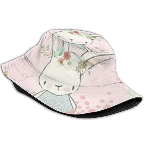 GTCAIOJN Garden Bunny Bucket Hat,Unisex Fisherman Hat Outdoor Sunscreen Beach Sun Cap Basin Hat